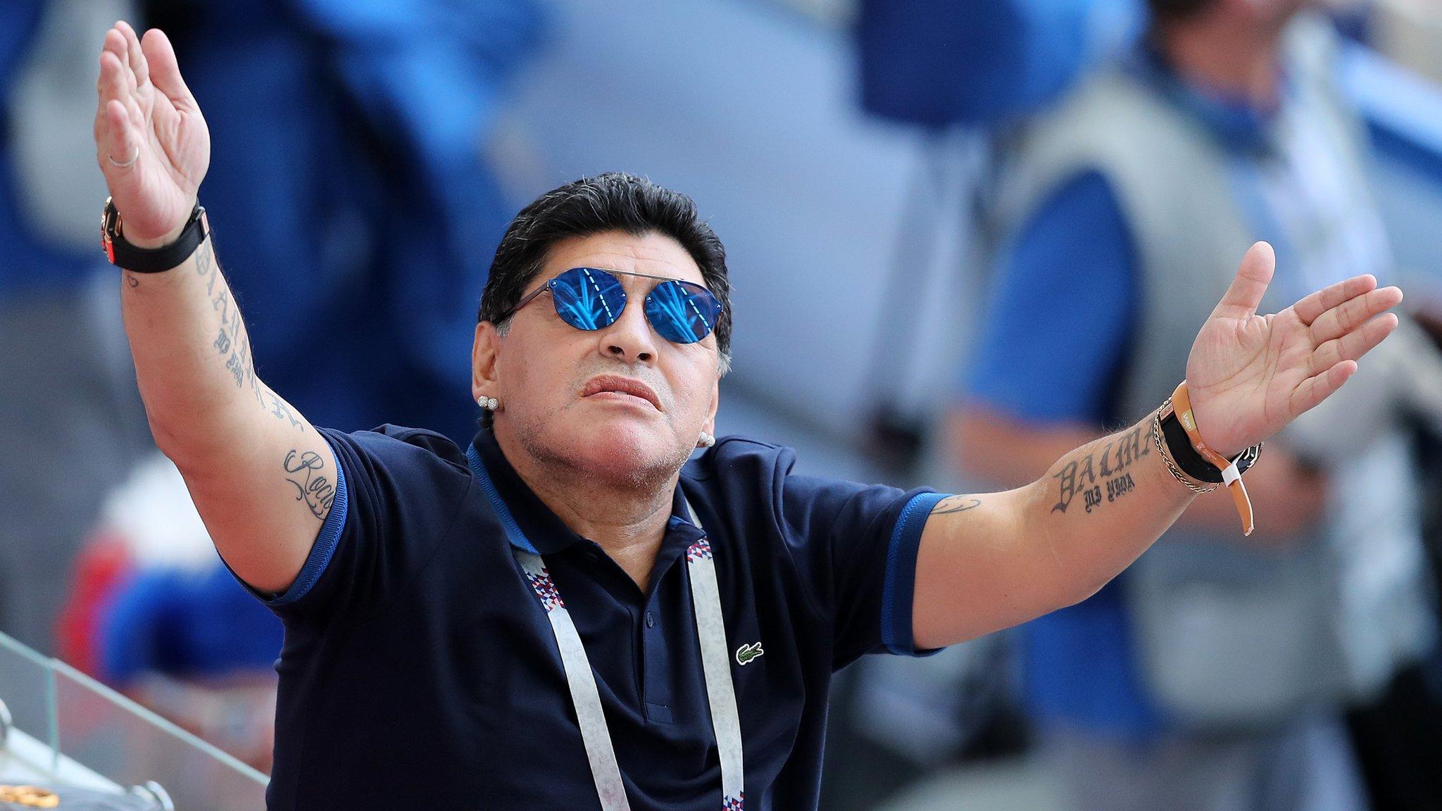 Maradona apologises for saying England 'robbed' Colombia