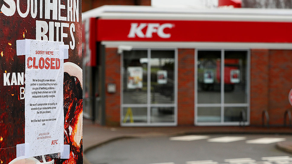 KFC shortages to continue all week