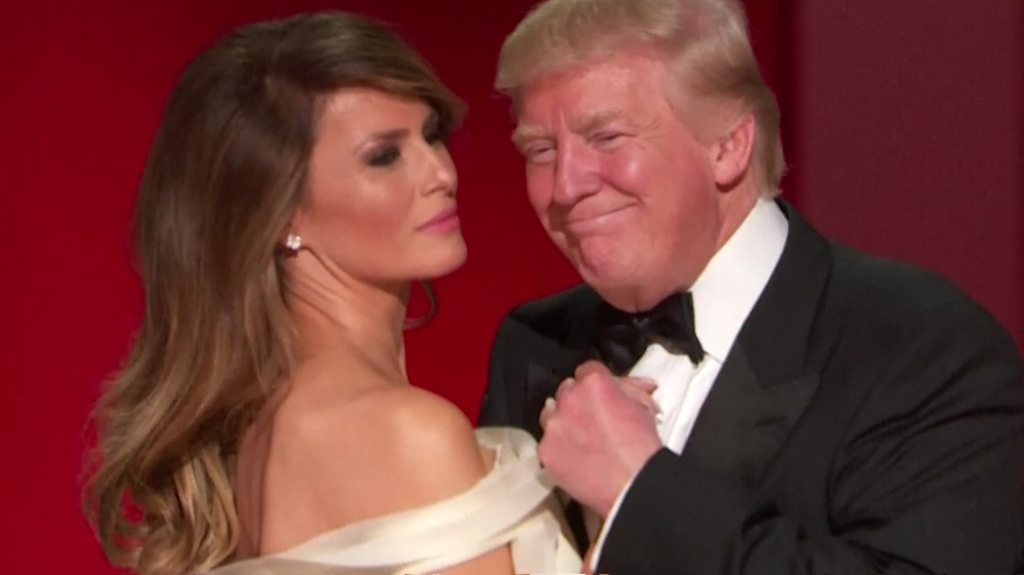 Presidential inaugural ball: Trumps enjoy first dance