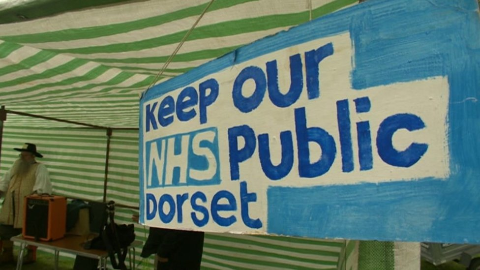 Rally over changes to Dorset's NHS services