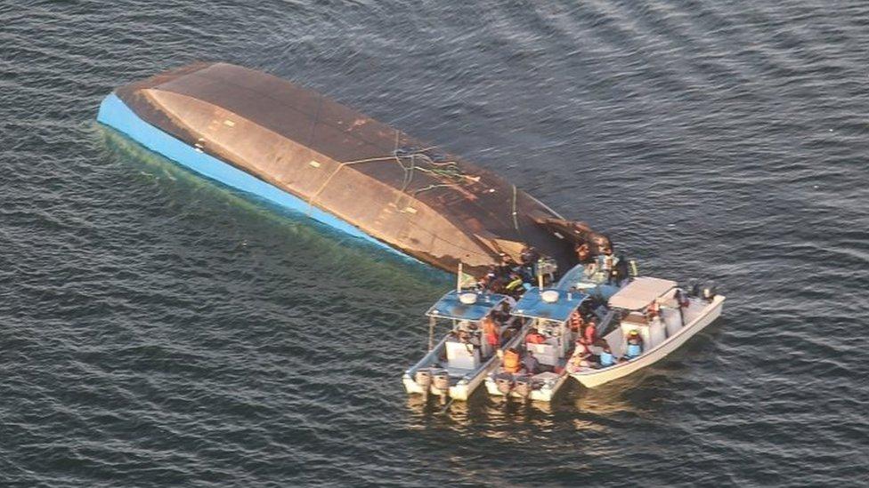 Lake Victoria Tanzania ferry disaster: Survivor found in air pocket