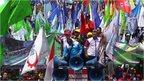 Demonstrators in Indonesia