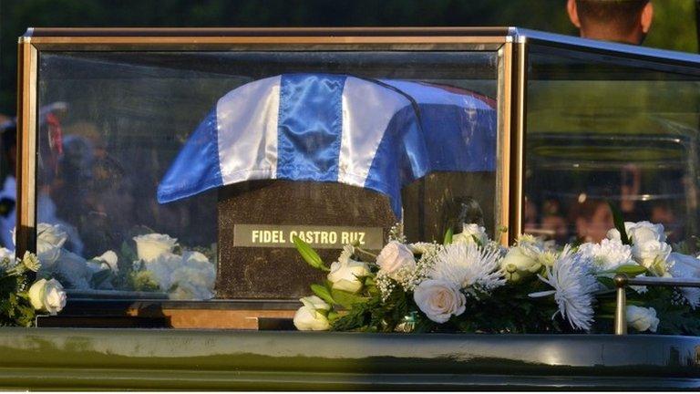 Castro's ashes