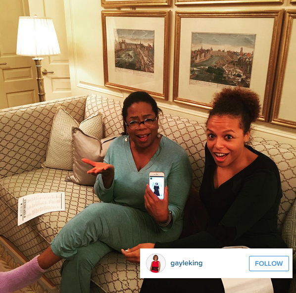 "On Instagram, Oprah's friend (and a TV presenter in her own right) Gayle King commented: ""We don't all look alike jeeze"""