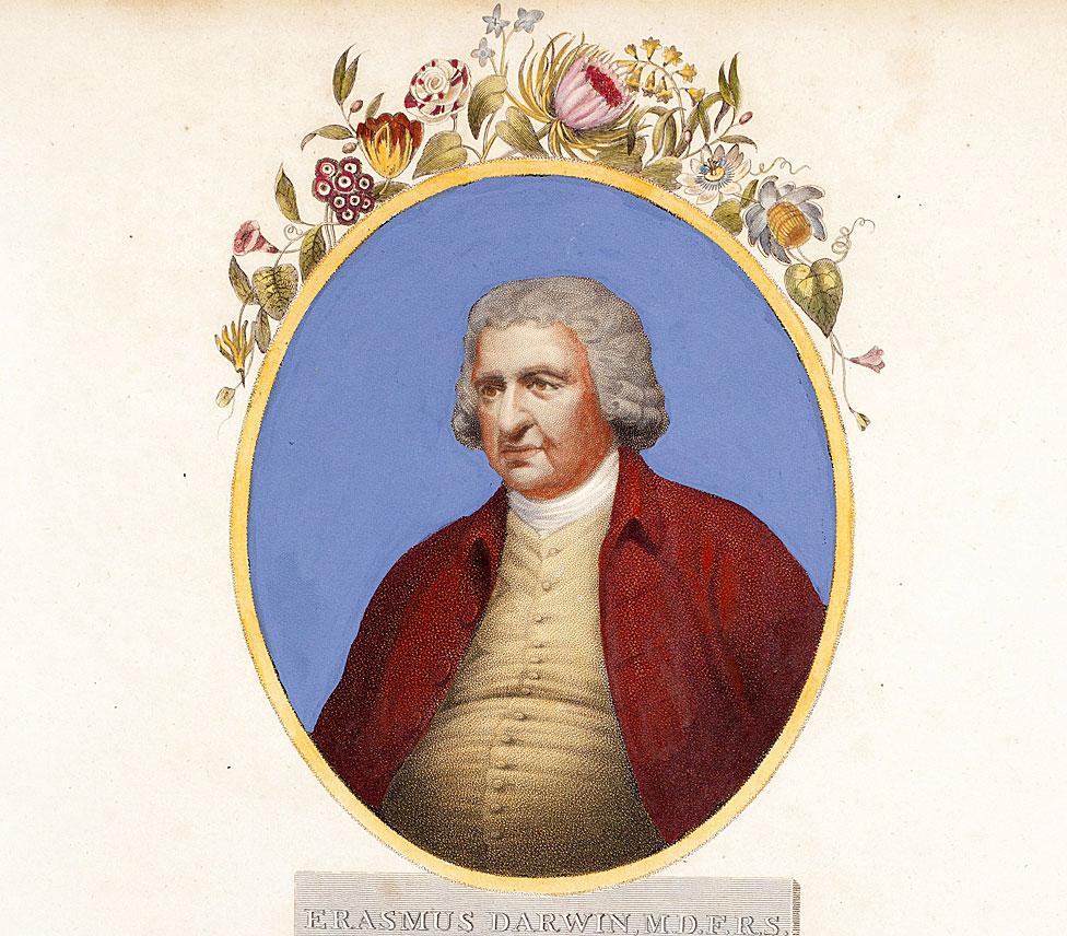 Retrato de Erasmus Darwin