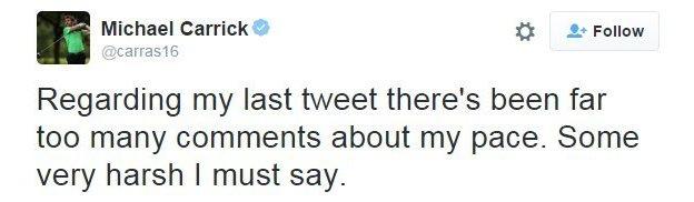 Michael Carrick tweets