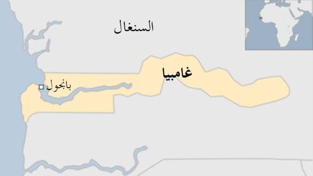 خريطة غامبيا