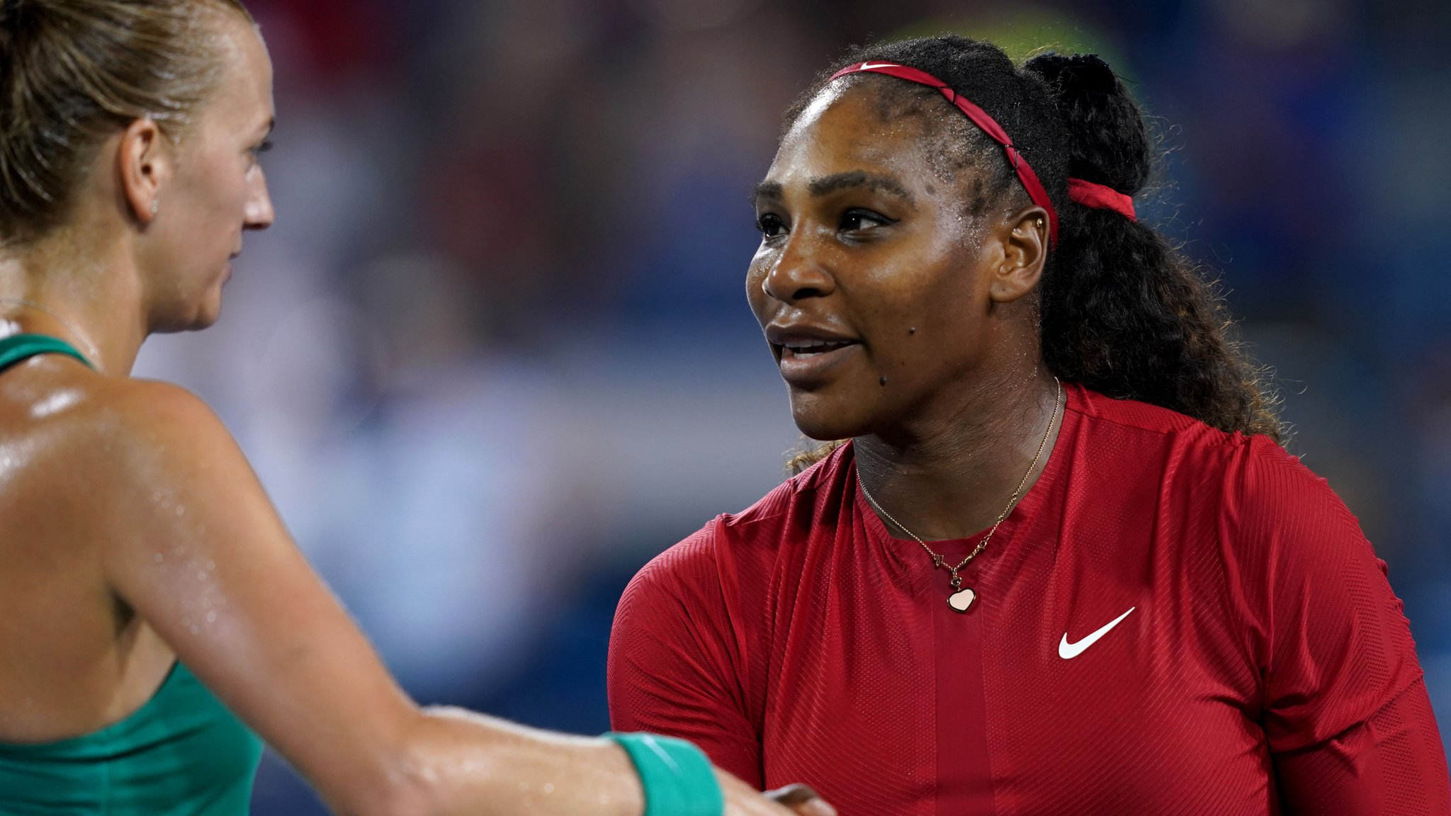 Serena Williams loses to Petra Kvitova at Cincinnati's Western & Southern Open