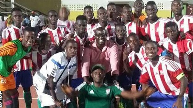 Gambia players