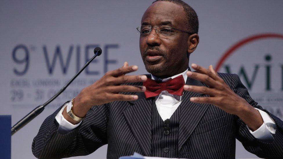 Sanusi Lamido Sanusi en 2013, como director del Banco Central de Nigeria.