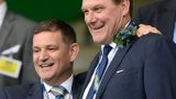 St Johnstone chairman Steve Brown and manager Tommy Wright