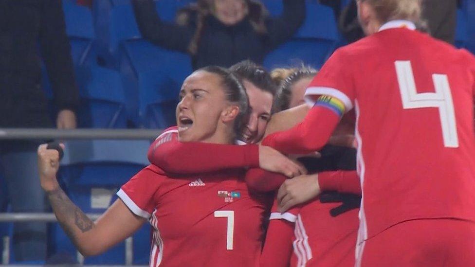 Hayley Ladd's free-kick gives Wales narrow win over Kazakhstan