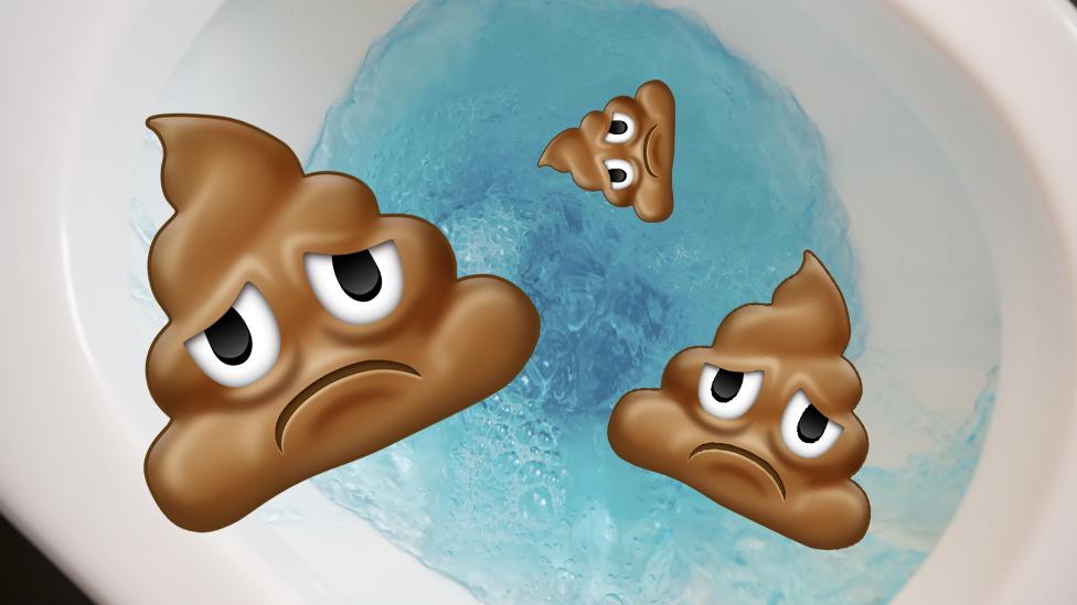 Sad poop emoji gets flushed after row