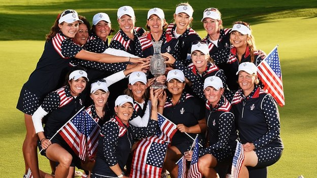 Image result for u.s. wins 2015 solheim cup