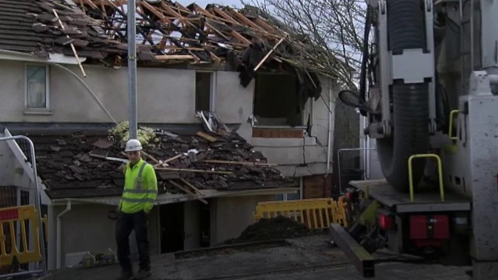Neath flats damaged by suspected gas explosion