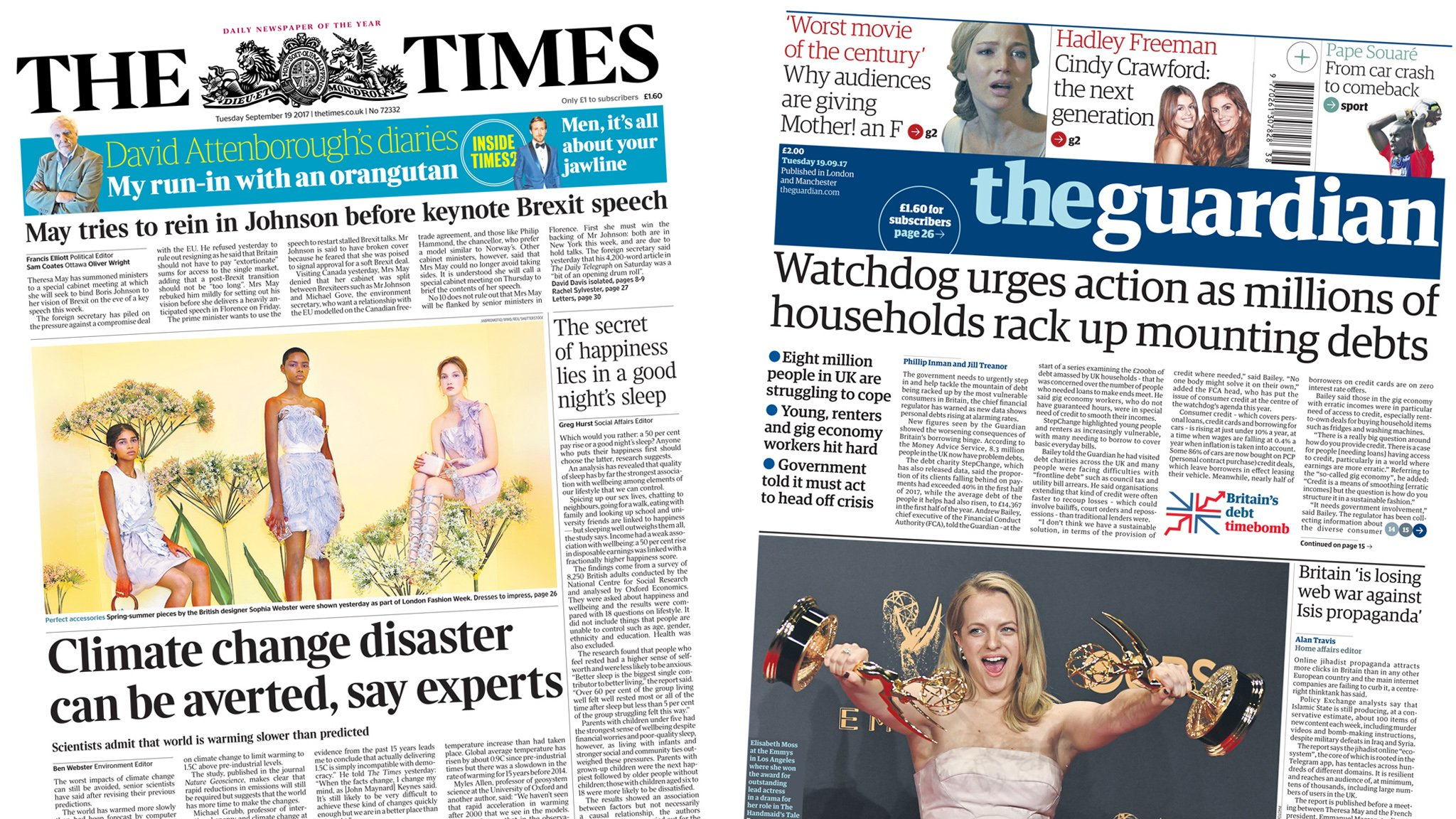 The Papers: Brexit shake-up and Ryanair 'flightmare'