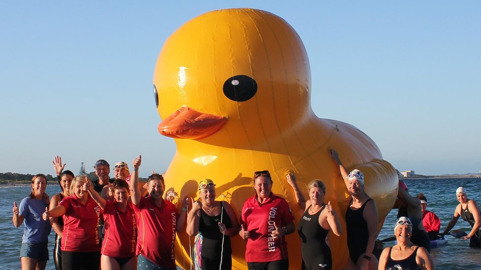 Daphne the duck: Giant inflatable found off Perth after Australian search