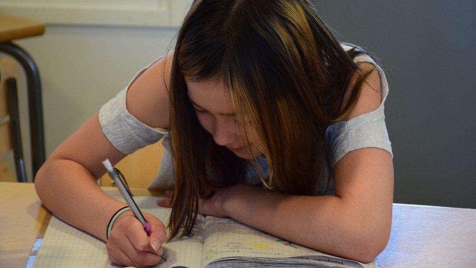 Las lapiceras y el papel aún son una parte importante de la vida en el aula...