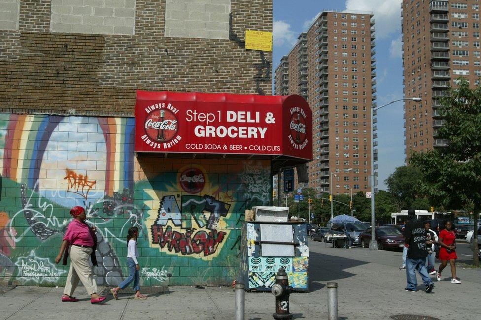 Barrio Harlem de Nueva York, Estados Unidos.