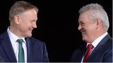 Joe Schmidt (left) and Warren Gatland