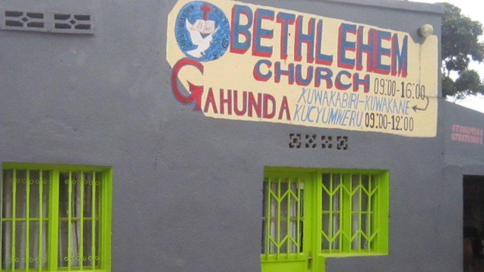 Una iglesia cerrada en Ruanda