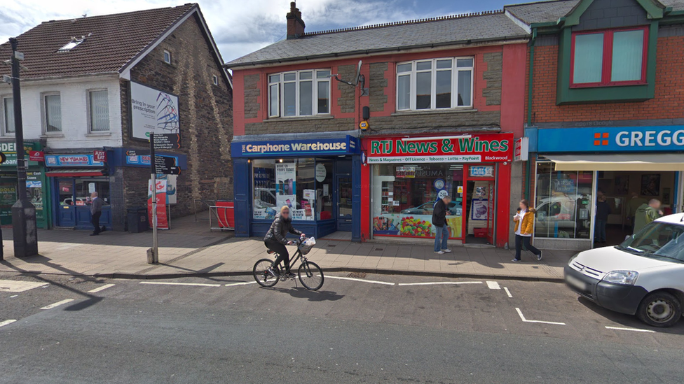 Blackwood Carphone Warehouse worker attacked with hammer in robbery