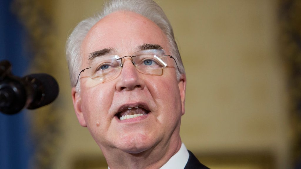 US Health Secretary Tom Price's private air travel probed