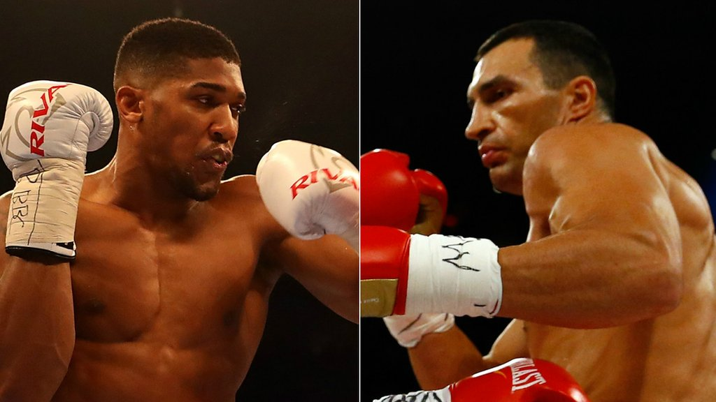 Anthony Joshua could face Wladimir Klitschko at Wembley in April