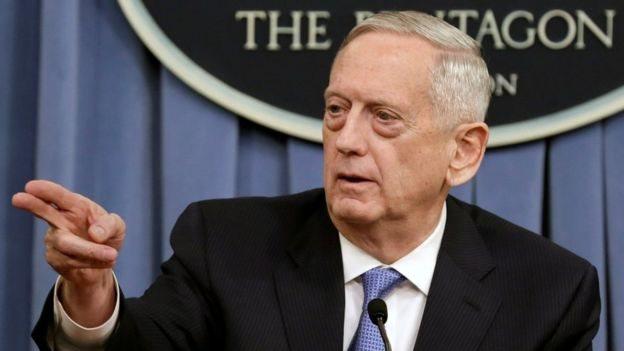 """قال ماتيس إن مقتل صالح """"إما قد يدفع الصراع باتجاه مفاوضات سلام تدعمها الأمم المتحدة أو تحوله إلى حرب أكثر شراسة""""."""