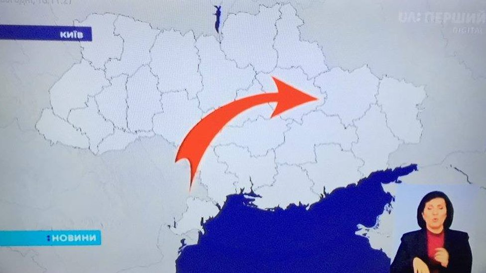 Anger as TV broadcasts exclude Crimea from Ukraine map
