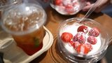 Strawberries and pimms