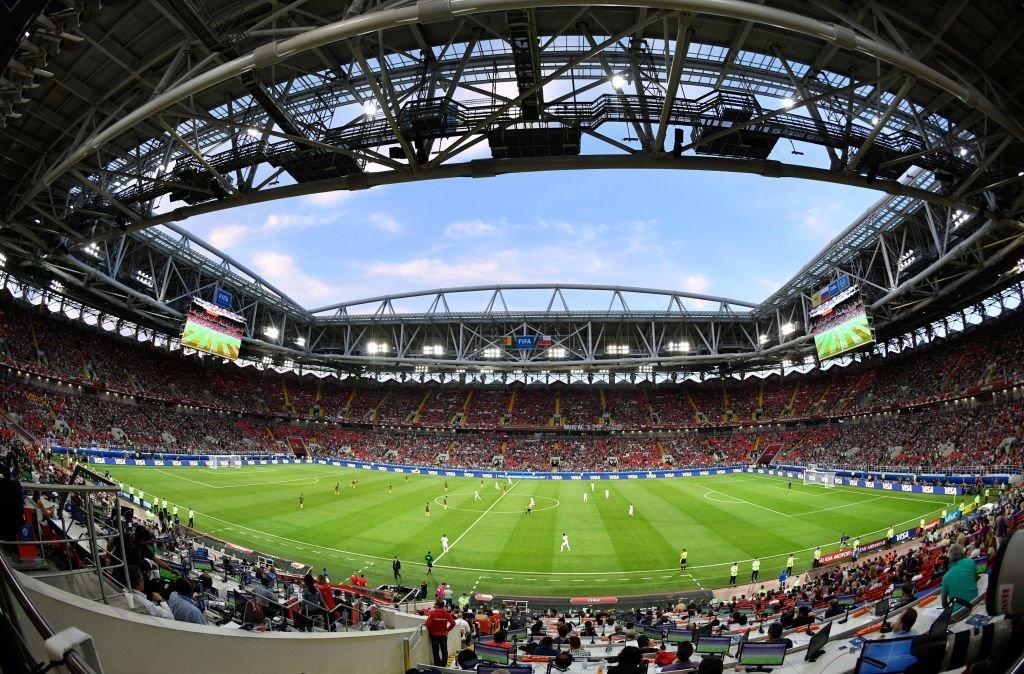 Panorámica del estadio Spartak, en Moscú