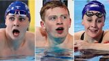 Ross Murdoch, Adam Peaty and Siobhan Marie O'Connor