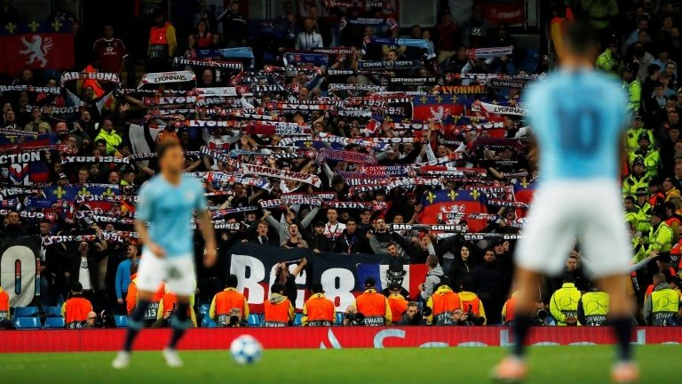 Lyon vow to ban supporter for Nazi salute at Manchester City