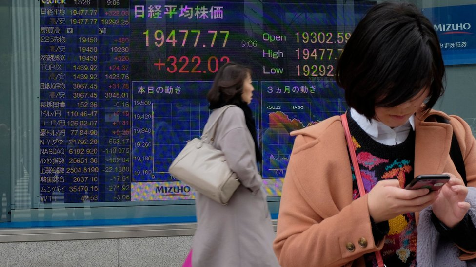 Asia stocks: Markets sink as global growth jitters spread