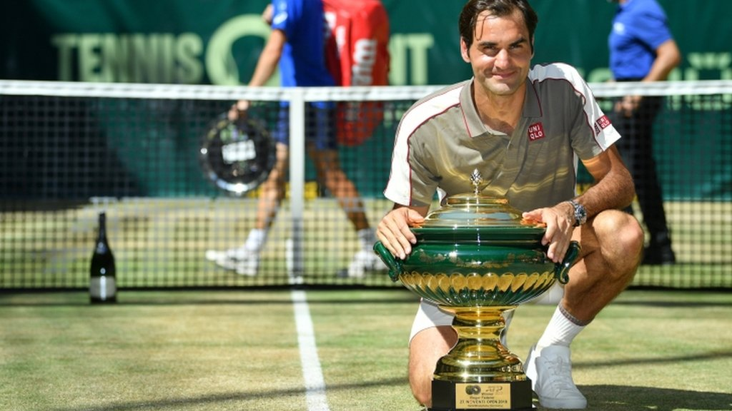 Roger Federer wins 10th Halle title with victory over David Goffin