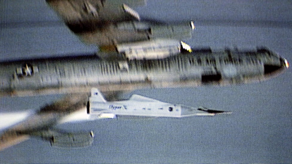 El X-43A alcanzó velocidades de Mach 9,6, esto es 1.850 kilómetros por hora, en vuelos de prueba en 2004. (Foto: NASA)