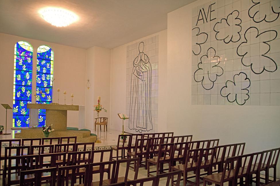 Matisse's Rosaire Chapel at Vence Alpes-Maritime, France
