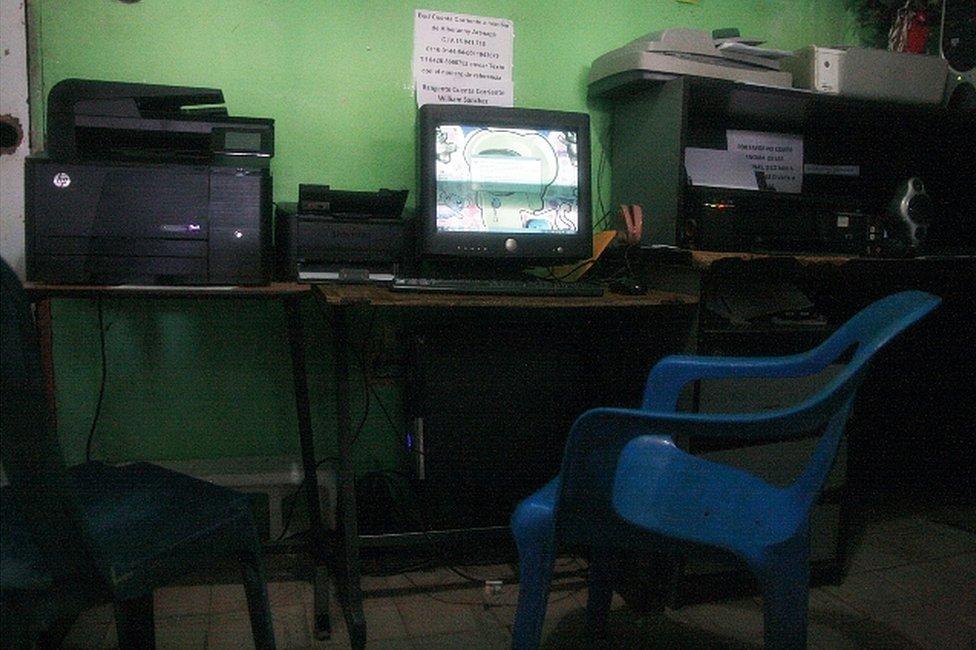 Cibercafé en el que trabajó Juan Carlos Sánchez Latorre en San Rafael, Venezuela. (Foto: Humberto Matheus)