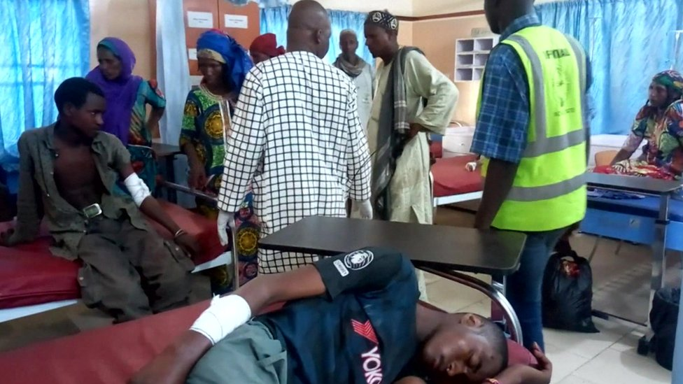 Nigeria suicide blast kills 30 at video hall in Borno