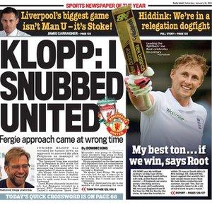 Today's newspaper gossip: Klopp rejected Man United; Willian wants lengthy Chelsea deal