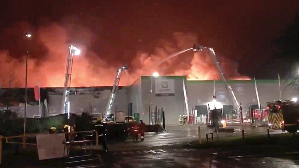 Ocado sales hit by warehouse fire