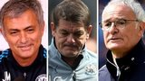 Jose Mourinho, John Carver, Claudio Ranieir