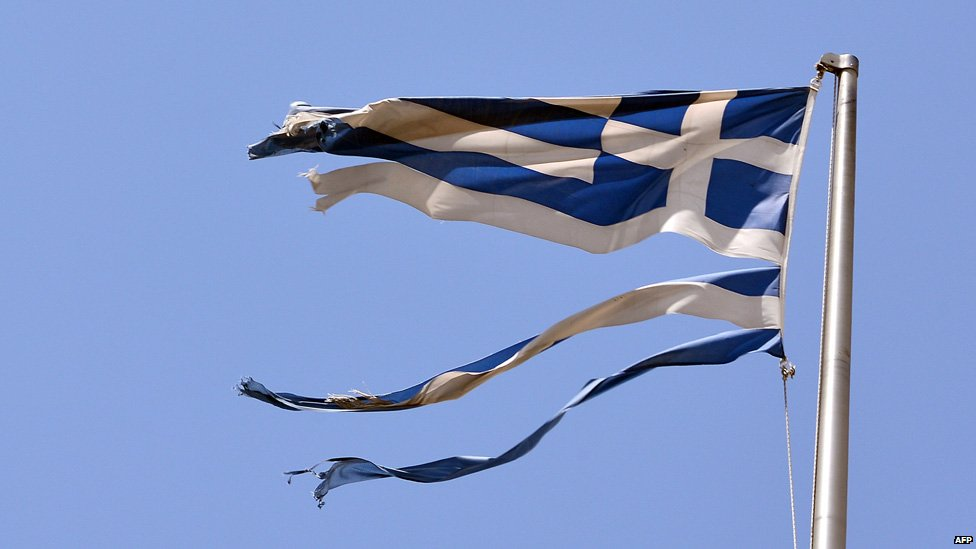 Ripped Greek flag