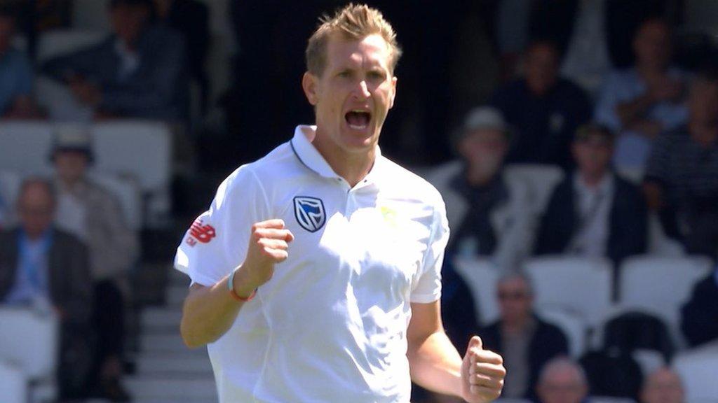 England v South Africa: Debutant Westley out for 25