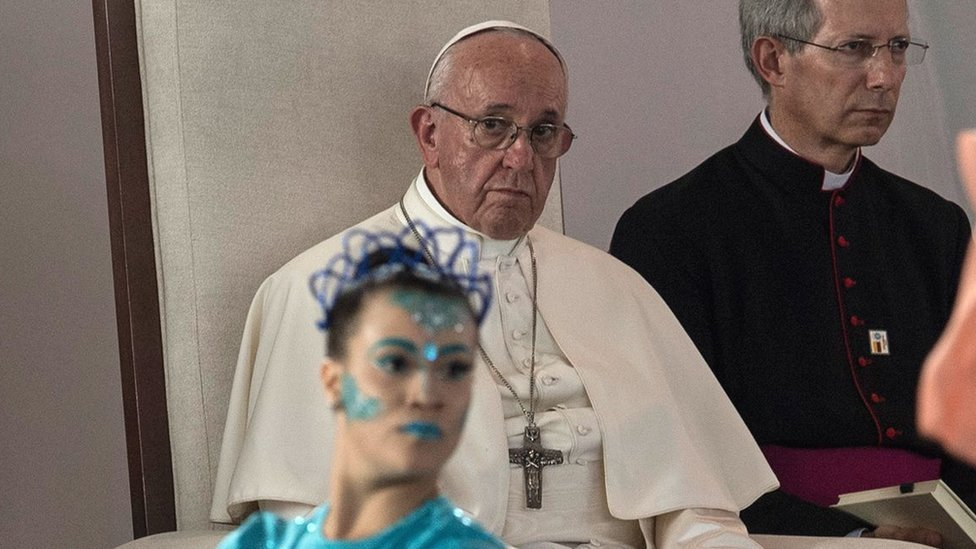 Pope Francis addresses violence against women on Colombia visit