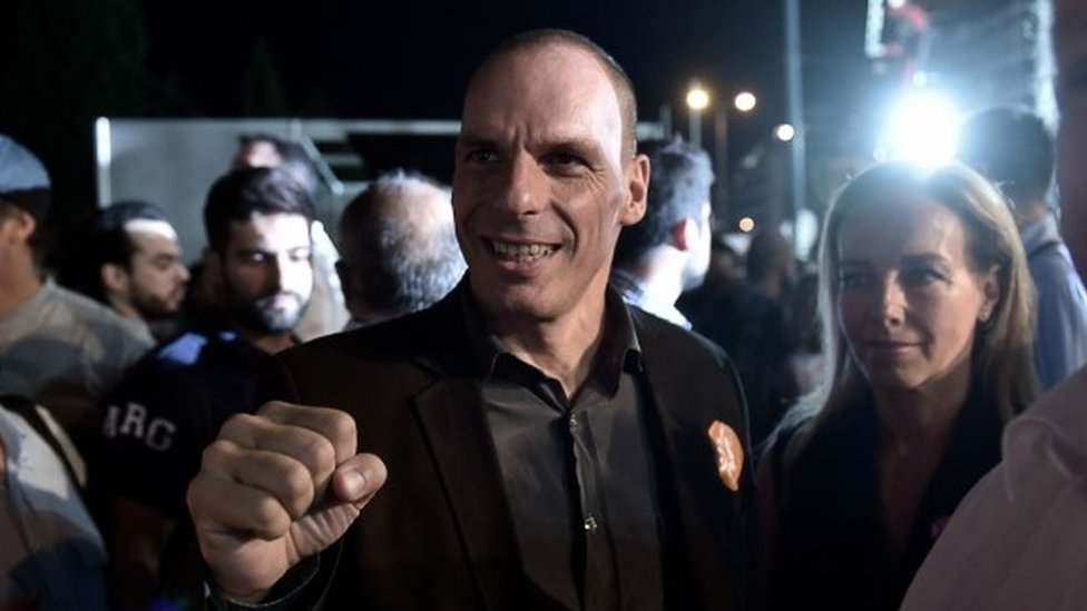 "Greek Finance Minister Yanis Varoufakis accuses Athens' creditors of ""terrorism"", the day before a referendum on an international bailout."