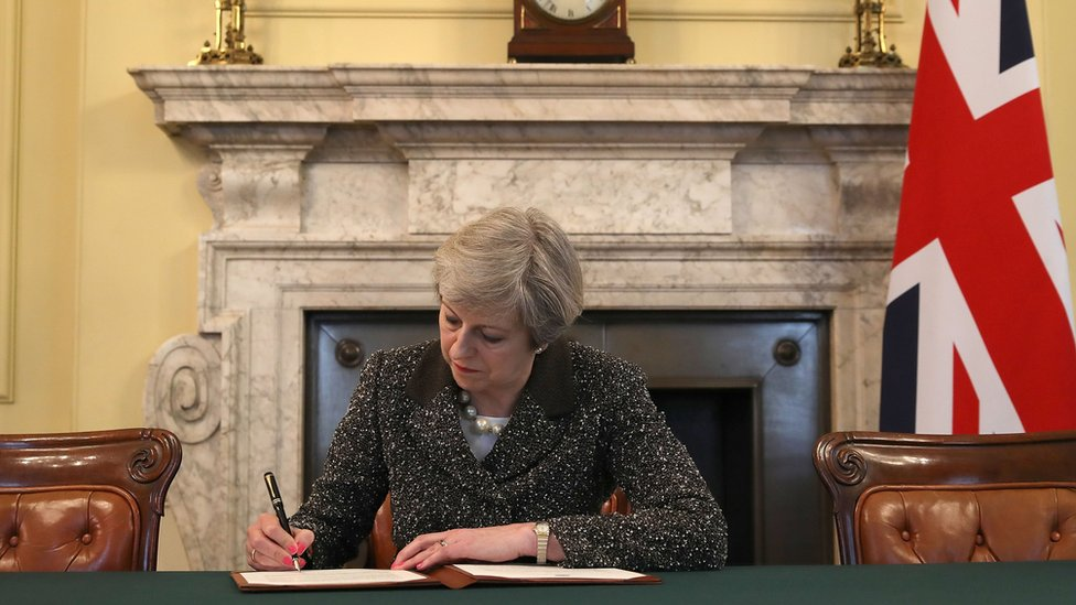 Article 50: May signs letter that will trigger Brexit
