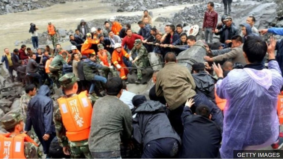 Lở đất ở Trung Quốc: hơn 100 người mất tích