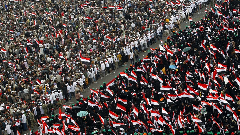 Yemenis protest on war's second anniversary